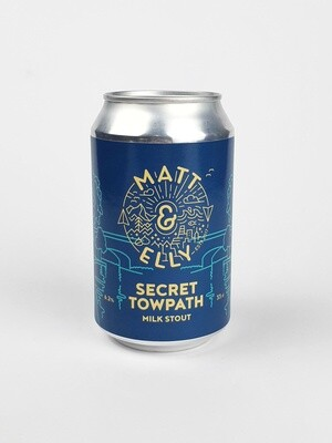 MATT & ELLY - SECRET TOWPATH - Milk Stout