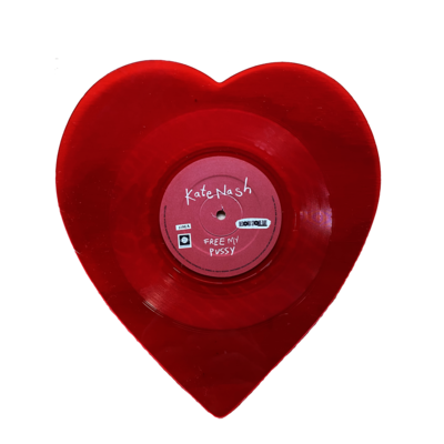 Free My Pussy - Limited Edition Red Translucent Heart Shaped 10