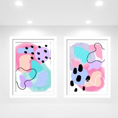 Pastel Pop Print Set
