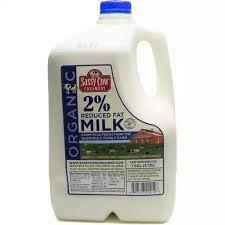 Organic 2% Milk (Gallon) - Sassy Cow Creamery