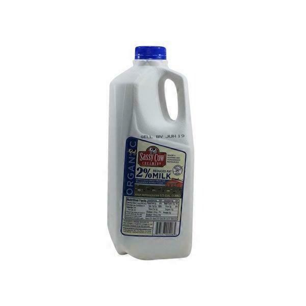 Organic 2% Milk (Half Gallon) - Sassy Cow Creamery