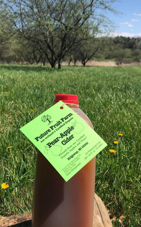Pear-Apple Cider (1/2 Gallon) - Future Fruit Farm