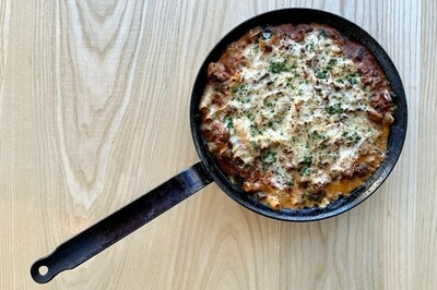 Baked Ziti w/ Roasted Eggplant and Sarvecchio Besciamella - Pasture and Plenty