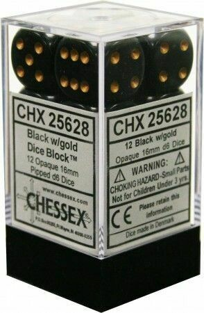 Dice CHX 25628 black/gold