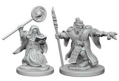 D&D Miniatures: Dwarf Male Wizard