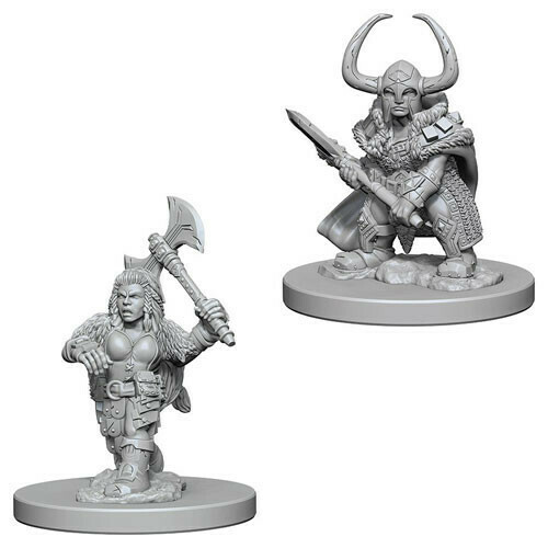 D&D Miniatures Dwarf Female Barbarian