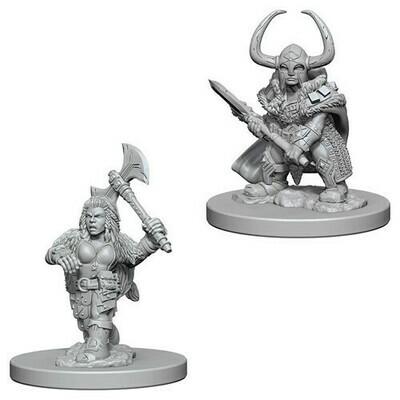 D&D Miniatures Dwarf Female Barbarian