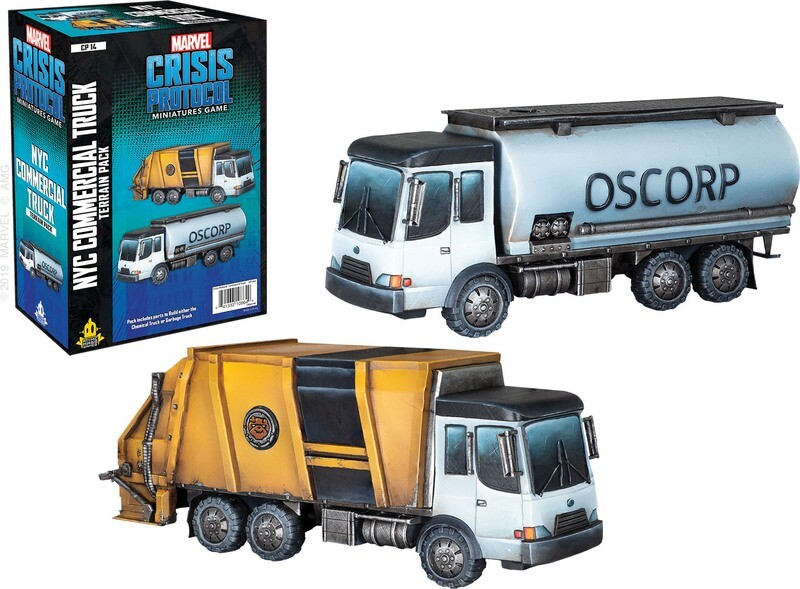Marvel Crisis NYC Commercial Truck Terrain Pack