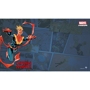 Marvel Champions Captain Marvel Playmat