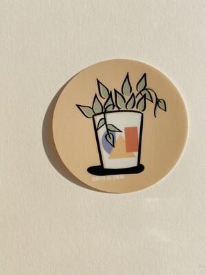 Plants & Shapes Sticker