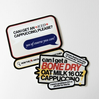 stupid cappuccino stickers