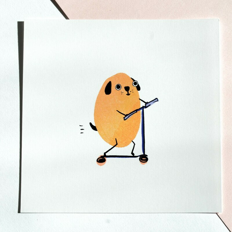 scoot dog print
