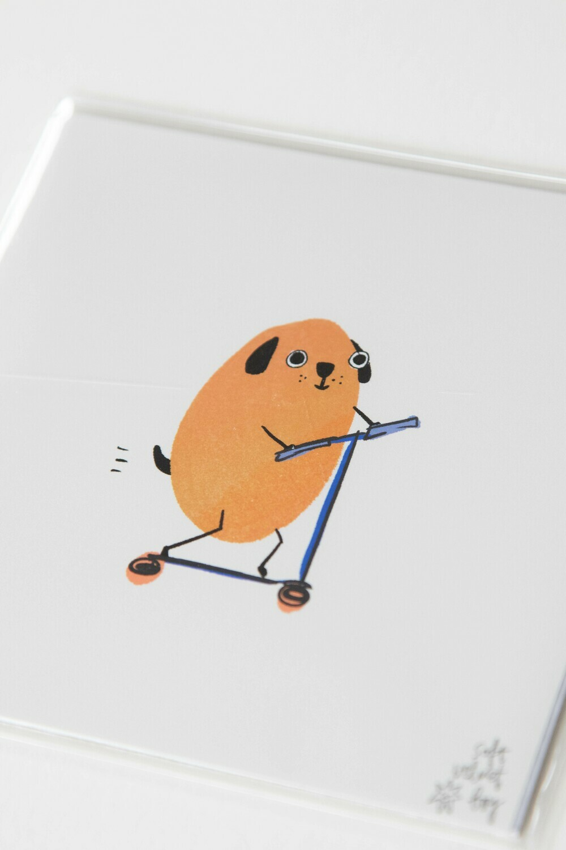 scoot dog print 🐶🛴