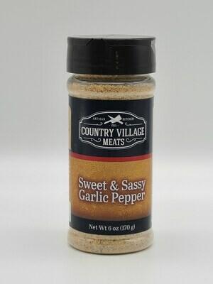 Country Village Meats - Sweet & Sassy Garlic Pepper 6 oz. Seasoning