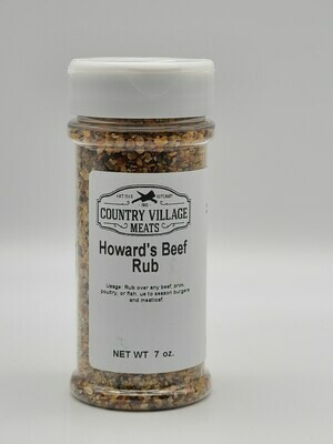 Country Village Meats - Howard's Beef Rub 7 oz.