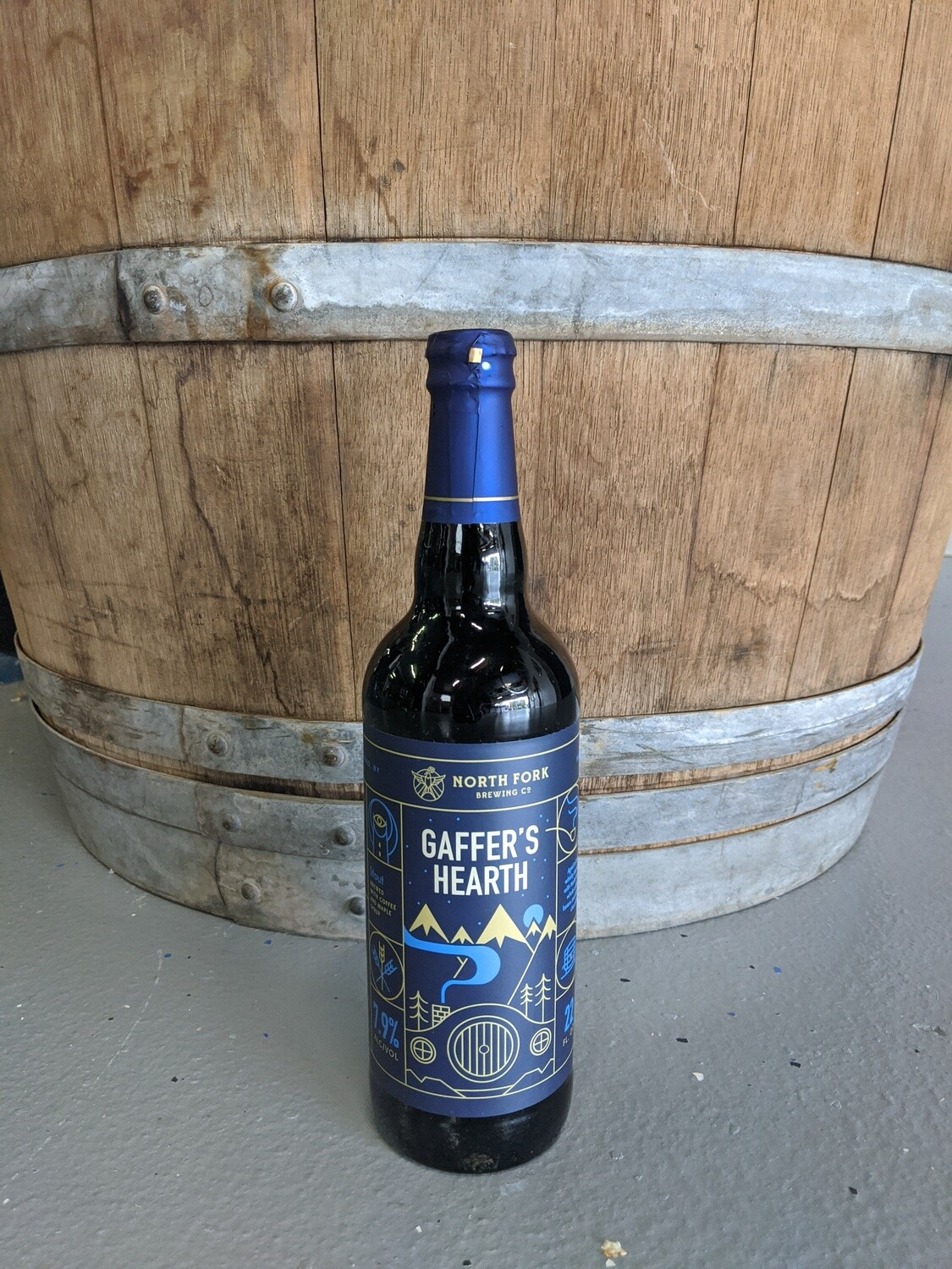 Barrel Aged Gaffer's Hearth with Coffee and Chocolate 22 oz
