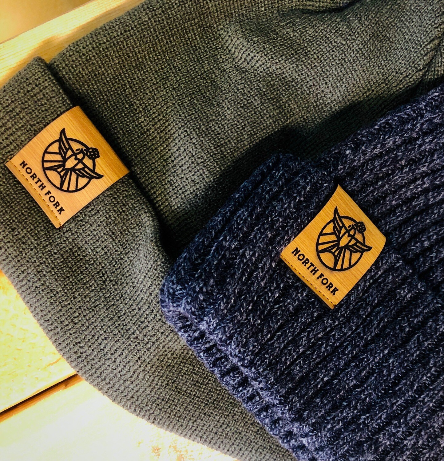 Winter Beanie with Leather Logo