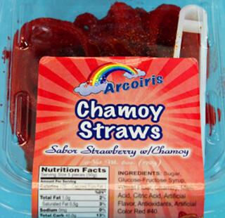 Chamoy Straws 6oz Tray