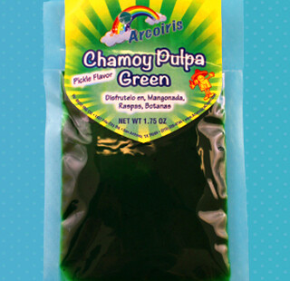 Chamoy Pulpa Green Pickle Flavor (Large) 1.75oz / 12 Pack