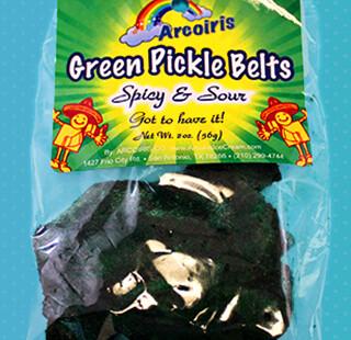 Green Pickle Belts 2oz / 12 Pack