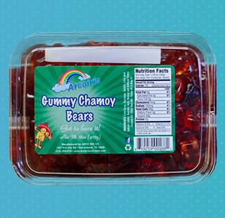 Gummy Bears Chamoy 14oz Tray