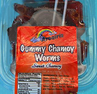 Gummy Worms Chamoy 8oz Tray