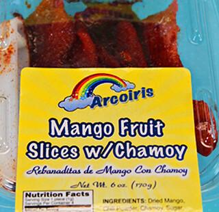 Mango Slices with Chamoy 6oz Tray