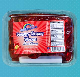 Gummy Worms Chamoy 14oz Tray