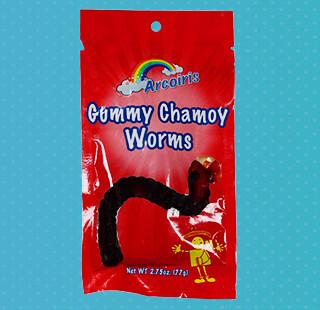 Gummy Worms Chamoy 1.75oz / 12 Pack