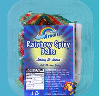 Rainbow Spicy Belts 5oz Tray