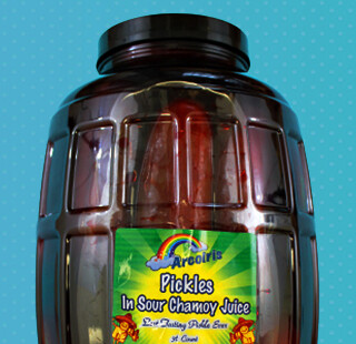 Pickles with Chamoy in Jar 36-Count