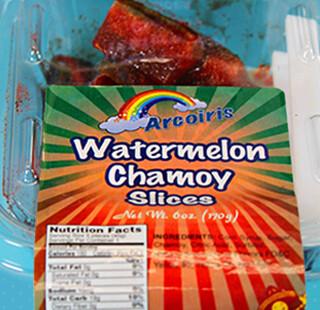 Chamoy Watermelon Slices 6oz Tray