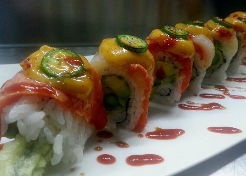 Salmon Fire Roll