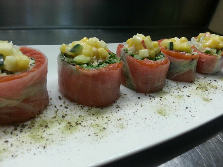 Mango Salmon Wrap