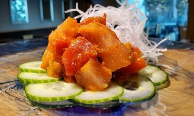 Spicy Tuna & Salmon Sashimi