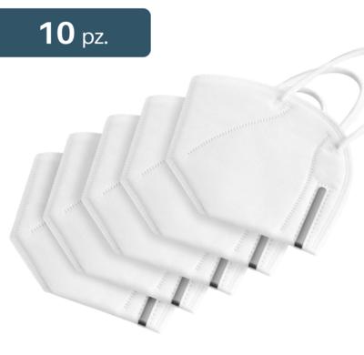 Mascherina per protezione con elastici. Taglia unica. 10 pezzi.