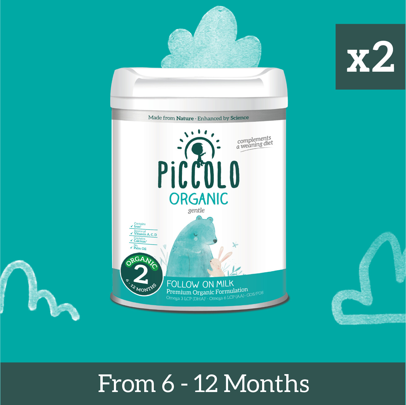 Piccolo Organic Follow-On Formula Milk