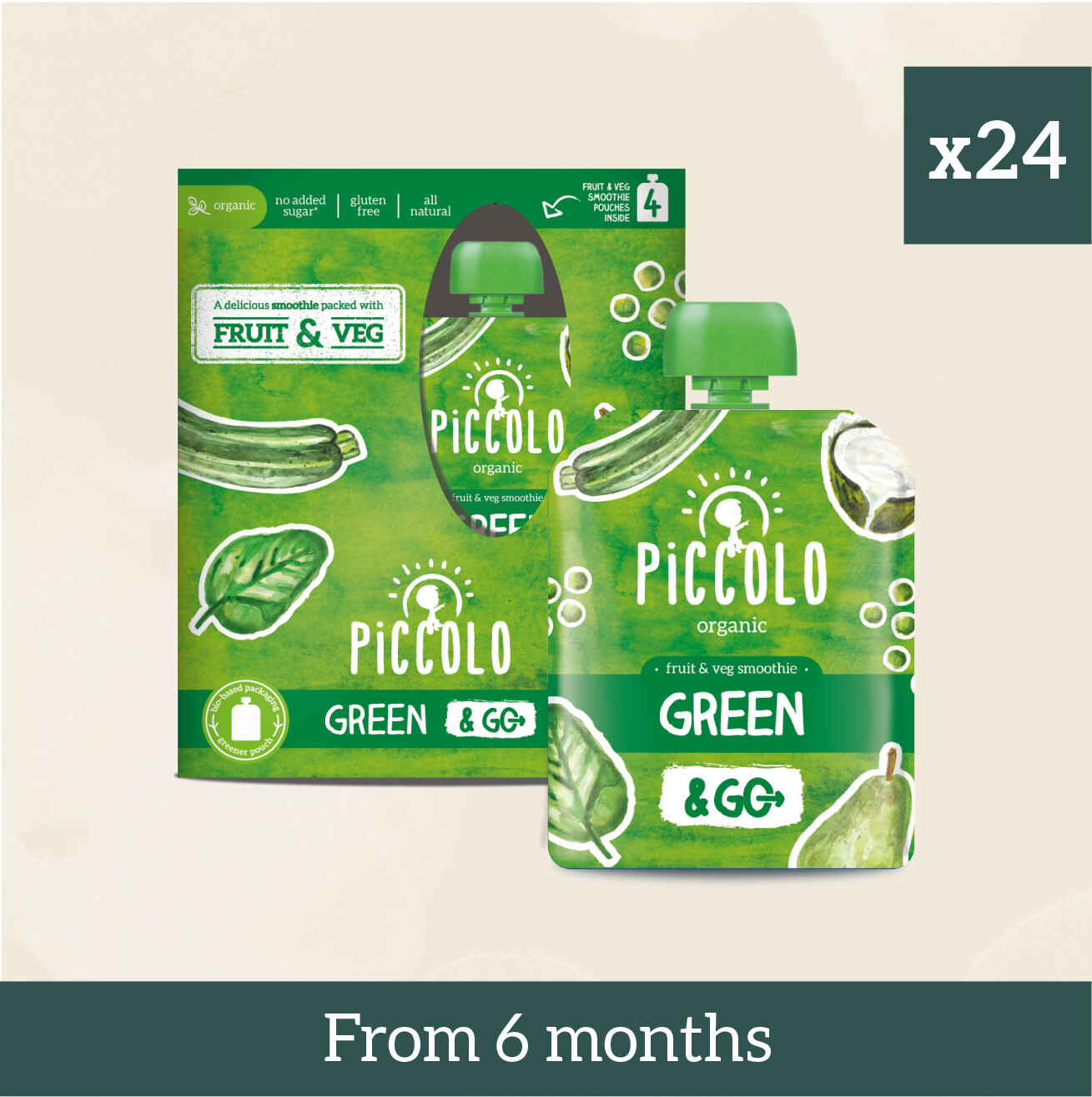 Piccolo Organic Green Fruit & Veg Multipacks