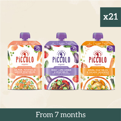 Piccolo Organic Textured Meals: First Fish & Meat
