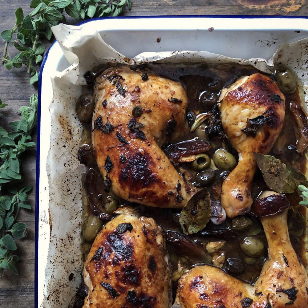 Chicken, Dates & Olives (Chicken Marbella)