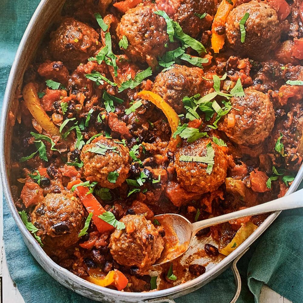 Meatballs in Black Bean Chilli