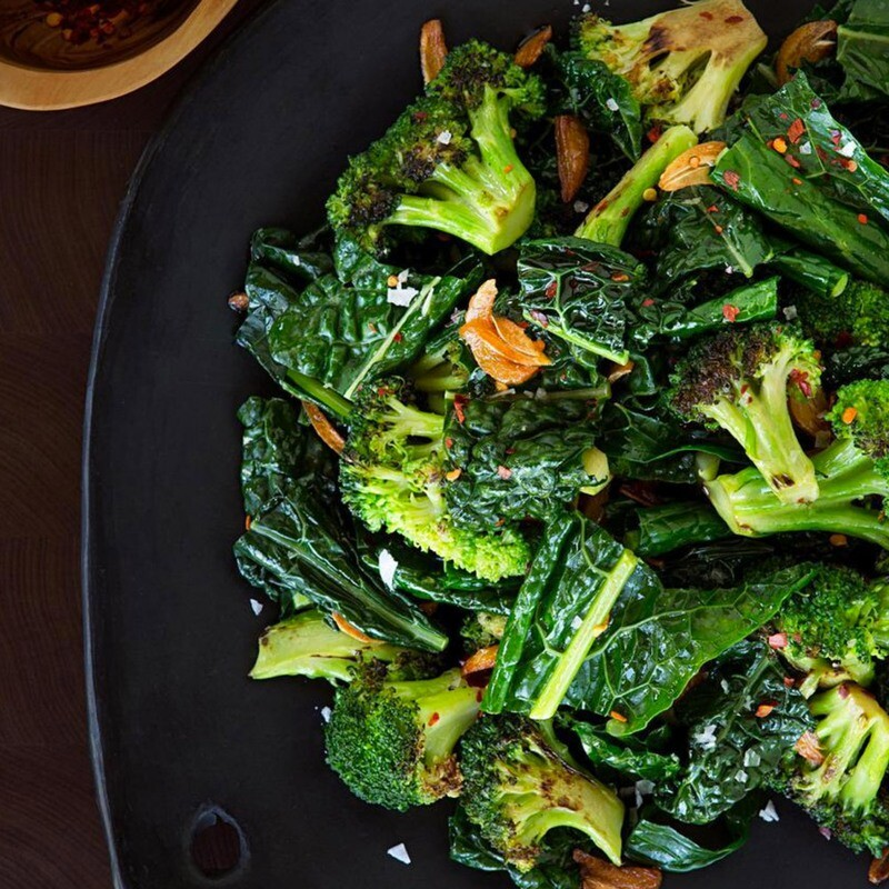 Fried Broccoli & Kale