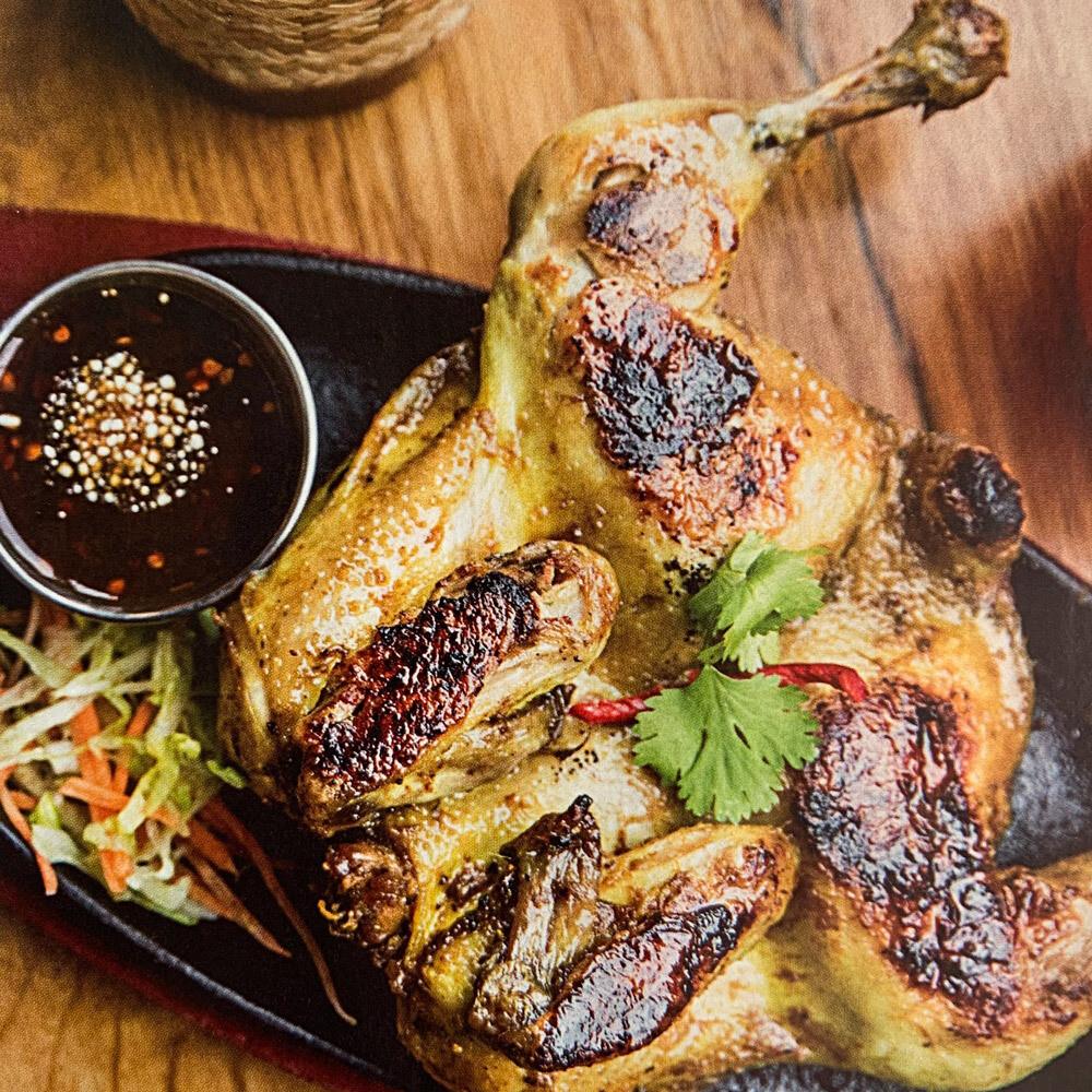Oven Roasted Thai Flavoured Chicken.