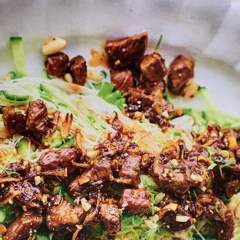 Sticky Ginger Beef Salad