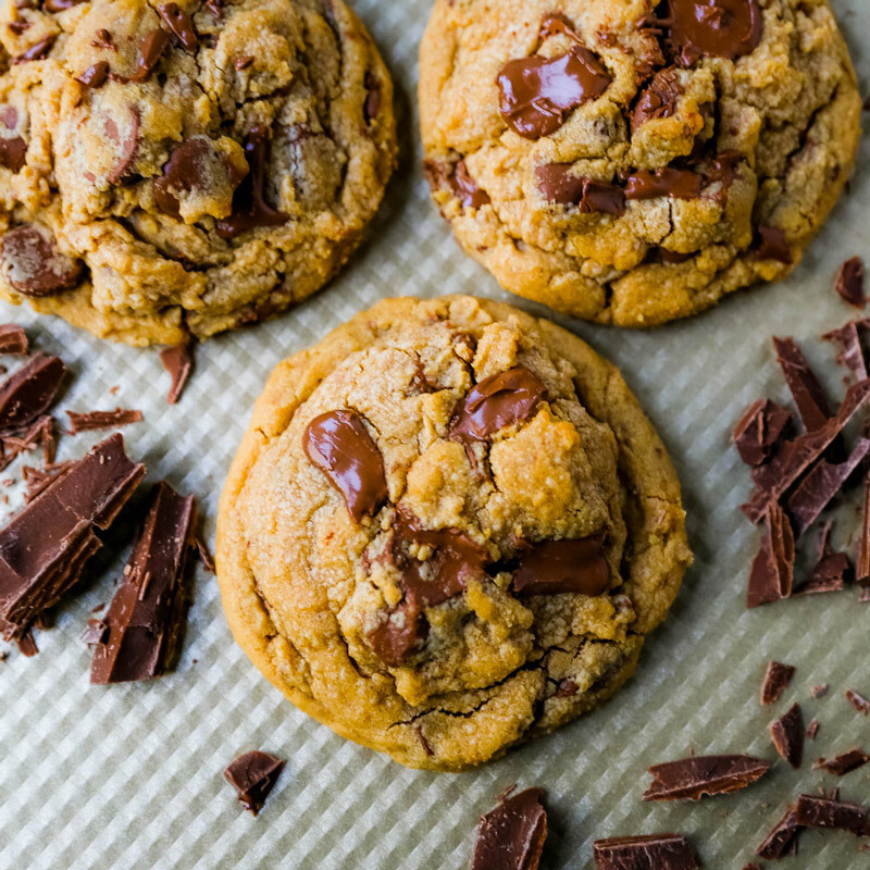 Peanutbutter Chocolate Chip Cookies