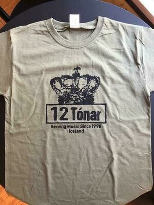 12 Tónar T-Shirt Olive Green Small