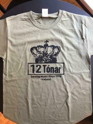 12 Tónar T-shirt Olive Green Large