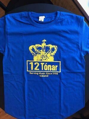 12 Tónar T-Shirt Blue Small