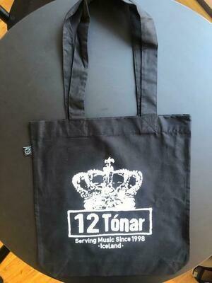 12 Tónar Tote Bag Black