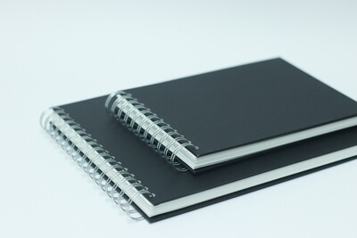 A4 Black Cover Sketchbook - Artway